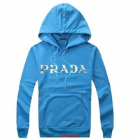 DCCKUH3 Prada Women Men Casual  Long Sleeve Top Sweater Hoodie Pullover Sweatshirt