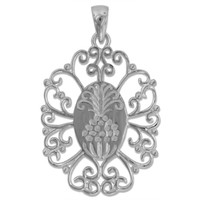 Southern Gates Sterling Silver Oval Pineapple Pendant