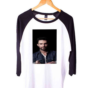 Adam Levine Maroon5 singer f72e13e5-b034-4d48-a4b6-08b6317fb8c5 Short Sleeve Raglan - White Red - White Blue - White Black XS, S, M, L, XL, AND 2XL*AD*