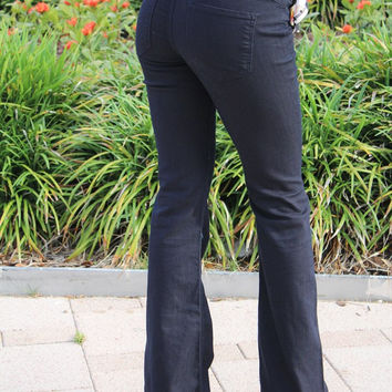 Cello Flared Trouser Charcoal Jeggings