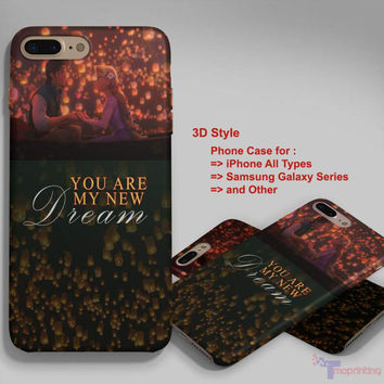 Tangled You Are My New Dream Rapunzel - Personalized iPhone 7 Case, iPhone 6/6S Plus, 5 5S SE, 7S Plus, Samsung Galaxy S5 S6 S7 S8 Case, and Other