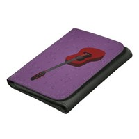 Wallet with illustration of an acoustic guitar