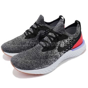 Nike Epic React Flyknit Black White Orbit Grey Men Running Sneakers AQ0067-006