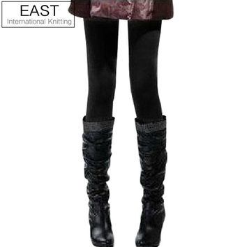 East Knitting inside Thicken Fur Leggings Sizes XS-M-L-XL