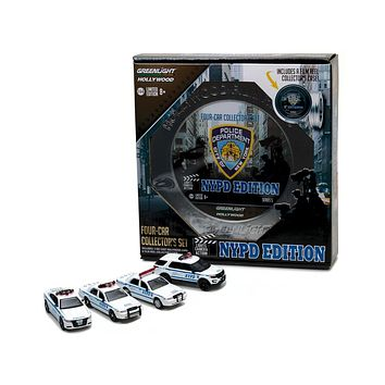 Hollywood Film Reels Series 5 4pc Set NYPD Behind the Scenes 1:64 Diecasts