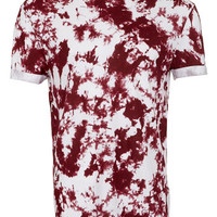 Wine Printed Low Roll T-Shirt