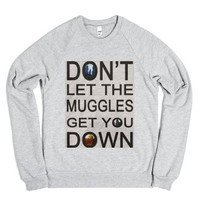 Dont Let The Muggles Get You Down-Unisex Heather Grey Sweatshirt