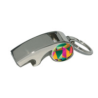 Triangle Multicolor - Geometric Pattern Whistle Bottle Opener Keychain