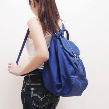 Christmas in July Sale - KINIES ESSENTIAL in Royal Blue -  Multipurpose Backpack / Shoulder bag / Cross Body / Tote