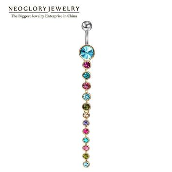 Neoglory Rhinestone Belly Button Rings For Women.   Available in Blue, Pink, White and Multicolored.   ***FREE SHIPPING***