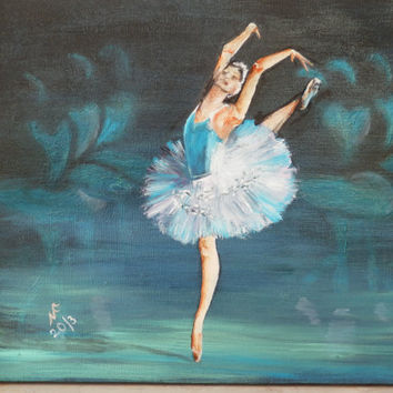 Original Oil painting of Ballet dancer by NatkaArt on Etsy