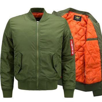Trendy New Winter Ma1 Thick Bomber Jacket Men Air Force Hip Hop Patch Slim Pilot Flight Army Military Jacket Outwear Tactical Coat 6XL AT_94_13