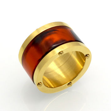 4 Color Resin Ceramic Couple Rings Wedding Ring For Man&Woman Titanium Steel Gold Plated Love Ring Fashion Famous Brand jewelry