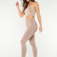 Keep It Simple Sweetie Leggings - Mocha