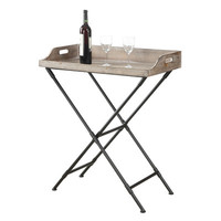 Beachcrest Home Wyoming Folding Bar Tray Table