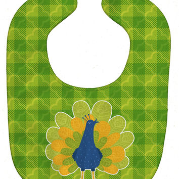 Pretty Peacock Baby Bib BB6770BIB