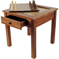 Trademark Games Chess & Games Wood 3 in 1 Multi Game Table | Wayfair