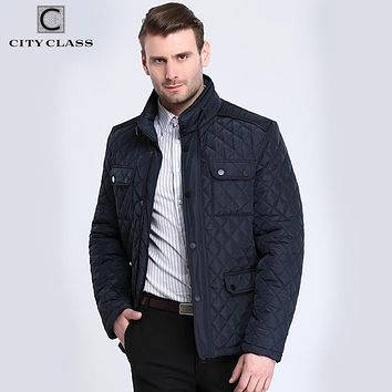 Trendy CITY CLASS 2017 Mens Quilted Jacket Multi-Packets Causal Bussiness Style Stand Collar Pilot Jackets and Coats Costume 3850 AT_94_13