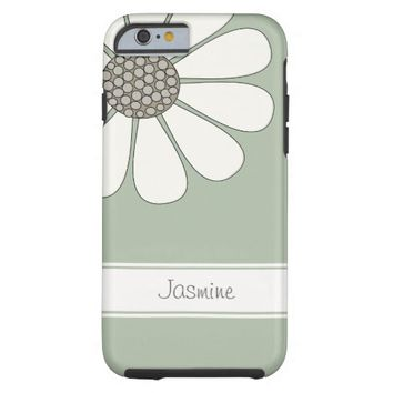 Daisy flower personalize name tough iPhone 6 case