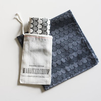 Organic Cotton Handkerchief  small scallop by jennarosehandmade