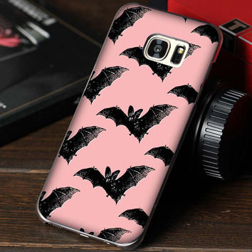 Goth Girl Vampire Bat Gothic Grunge UV Hard plastic Pattern Mobile phone cover Case for Samsung galaxy S7edge