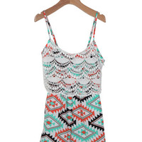 Aztec Crochet Romper (Big Girl): Buy Vintage Havana Kids Clothing at MFredric.com