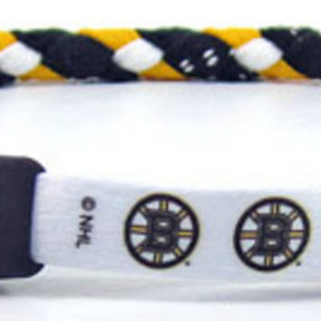 NHL Boston Bruins Hockey Skate Lace Swannys Necklace 20 Large