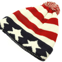 American Flag Winter Beanie