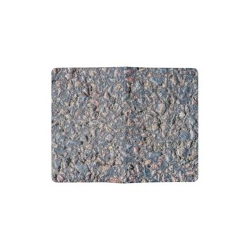 Asphalt and pebbles texture pocket moleskine notebook cover with notebook
