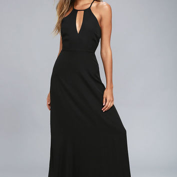 Beauty and Grace Black Maxi Dress