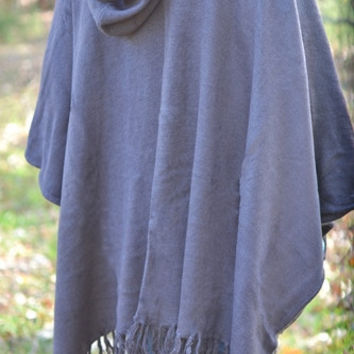 Bonfire Season Poncho In Charcoal