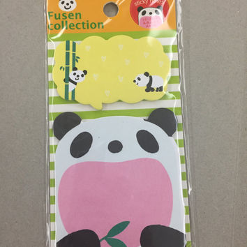Sticky Memo Note Pad - Panda eating bamboo SS703