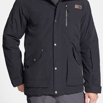 Men's The North Face 'Norwade' Classic Fit Waterproof Heatseeker Insulated Snowsports Parka with Faux Fur Trim