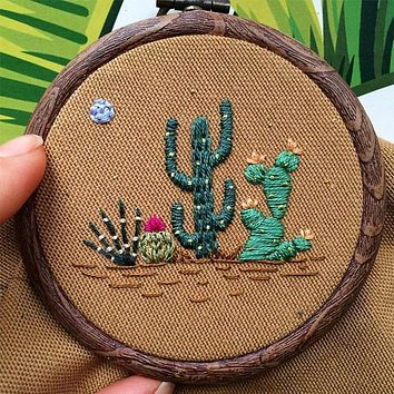 New DIY Cactus Embroidery Kit