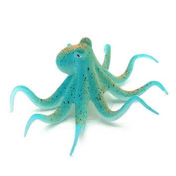 Fluorescent Artificial Octopus Aquarium Ornament + Suction Cup Fish Tank Decoration