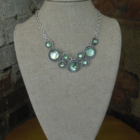 Green Multi Sphere Necklace