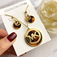 michael kors necklace & earrings for women gift