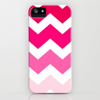 Ombre Chevron- Powder Room iPhone & iPod Case by Rebecca Allen