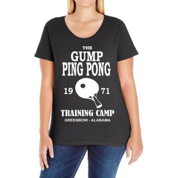 forrest gump   ping pong camp   cult film Ladies Curvy T-Shirt