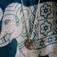 Silver Om Dainty Necklace