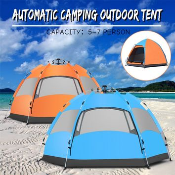 Waterproof 5-7 People Automatic Instant Pop Up Family Tent