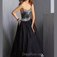 Strapless Sweetheart Neckline Prom Ball Gown By Alyce Paris 6330