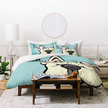Angry Squirrel Studio French Bulldog 22 Duvet Cover