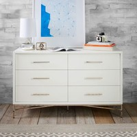 City Storage 6-Drawer Dresser - White