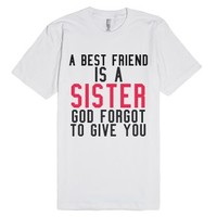 God Forgot To Give.-Unisex White T-Shirt