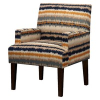 Dolce Arm Chair - Flame Stitch Stripe