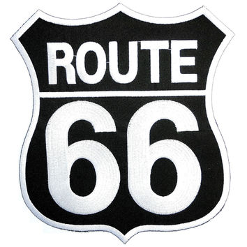 "ROUTE 66 Cafe Racer MC Biker Embroidered Big Back Patch 8""/20.4cm"