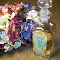 Vintage Bottle, Cologne Bottle, Avon Products, California Perfume, White Lilac Cologne, Anniversary Keepsake, Teal Blue Label , Pink