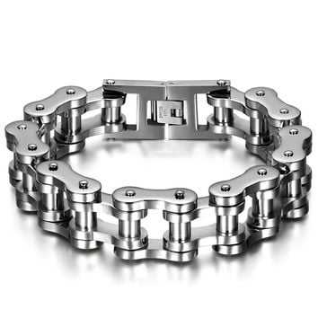 Heavy Motorcycle Chain Stainless Steel Bracelet