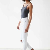 BDG Twig Crop High-Rise Skinny Jean - White Slash